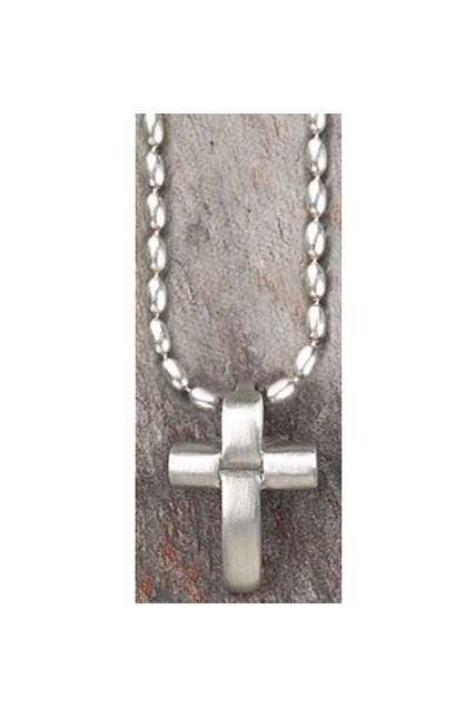 PEWTER SYLVER CROSS NECKLACE