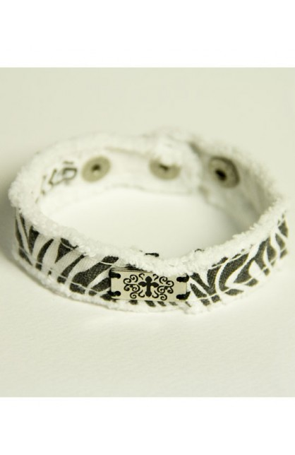 ZEBRA CHERISHED CANVAS BRACELET