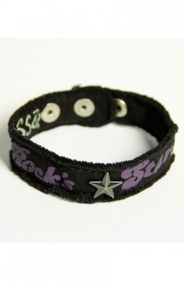 ROCK'S STAR CHERISHED CANVAS BRACELET