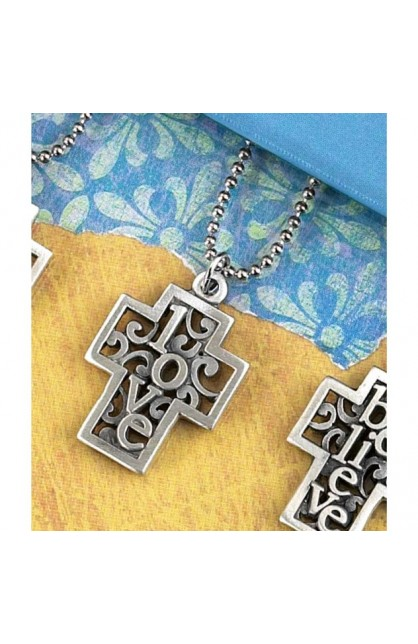 LOVE BOX CROSS NECKLACE