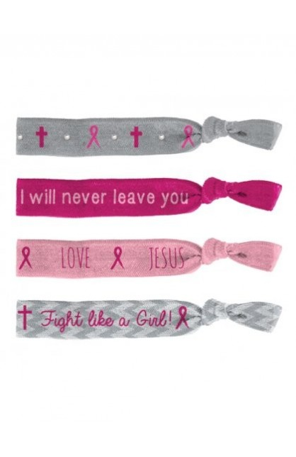 PINK RIBBON FAITH TIE BANDS
