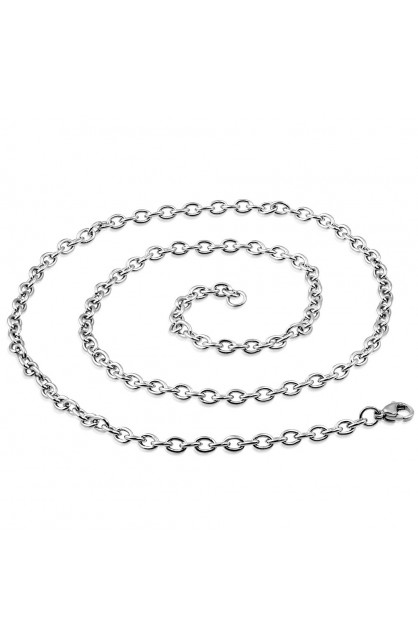 STAINLESS STEEL LOBSTER CLAW CLASP CLOSURE OVAL LINK CHAIN