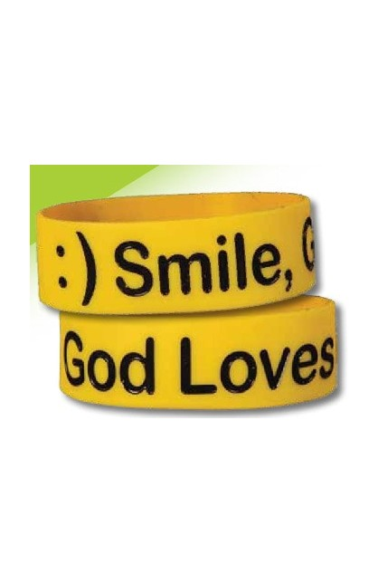 SMILE WIDE SILICONE BRACELET