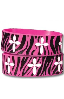ZEBRA CROSS WIDE SILICONE BRACELET