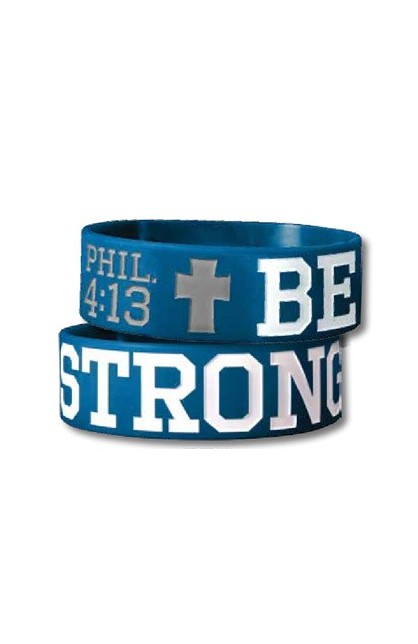 BE STRONG WIDE SILICONE BRACELET
