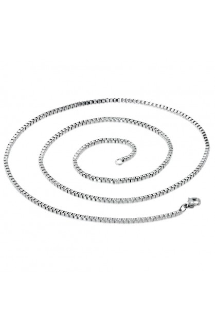 STAINLESS STEEL LOBSTER CLAW CLASP VENETIAN BOX LINK CHAIN