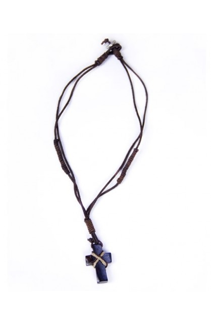 REAL LEATHER NECKLACE 1