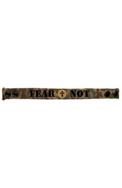 FEAR NOT CAMO FAITH GEAR CANVAS BRACELET