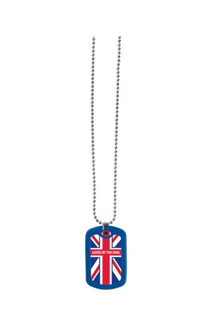 SAVED BY THE KING FAITH TAG NECKLACE