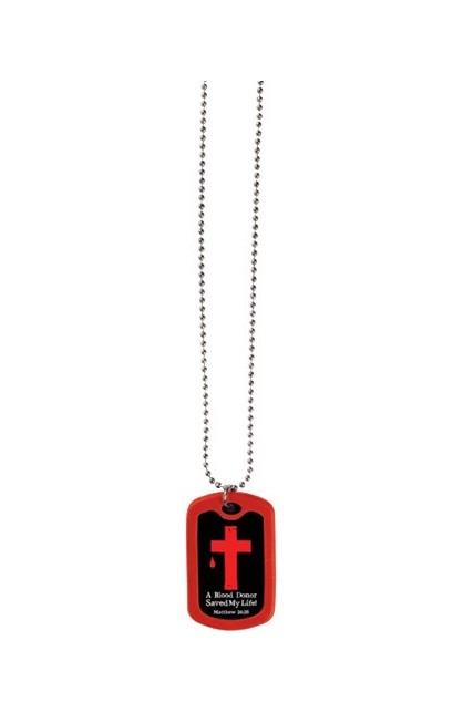 BLOOD DONOR FAITH TAG NECKLACE