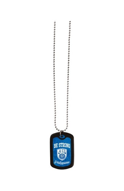 BE STRONG FAITH TAG NECKLACE