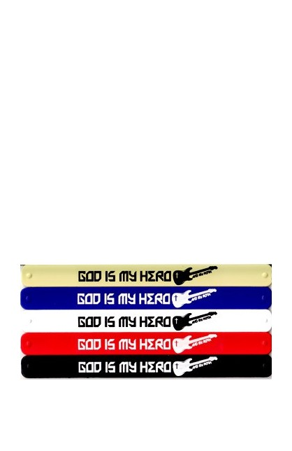 GOD IS MY HERO SLAP BRACELET