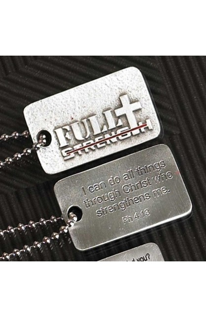 FULL STRENGTH PH4:13 FAITH TAG