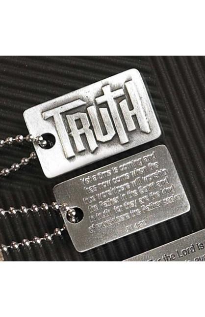 TRUTH JN4:23 FAITH TAG