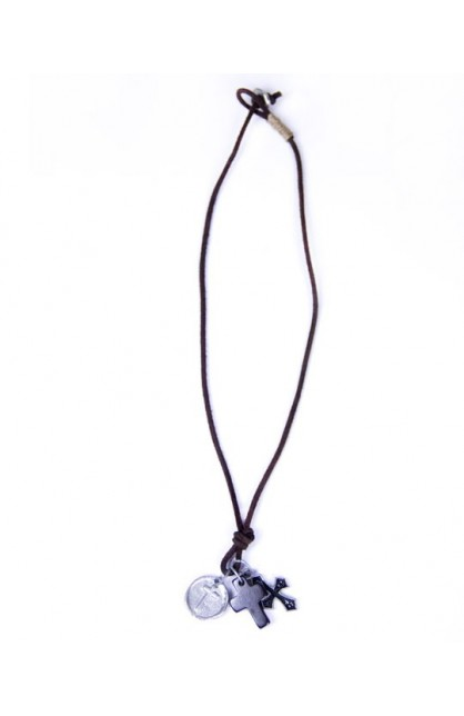 REAL LEATHER NECKLACE 4