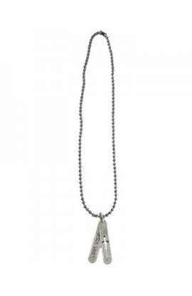 TWO TAB CROSS NECKLACE