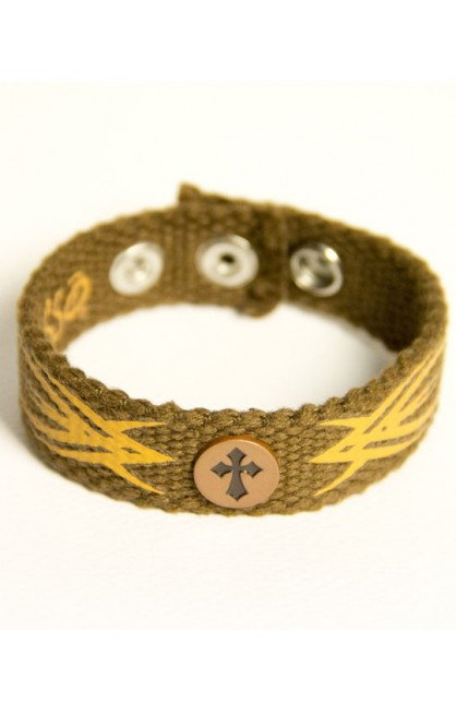 TRIBAL CROSS FAITH GEAR CANVAS BRACELET