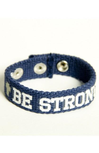 BE STRONG FAITH GEAR CANVAS BRACELET