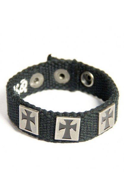 3 CROSSES FAITH GEAR CANVAS BRACELET