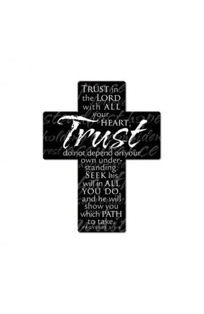 TRUST METAL CROSS MAGNET