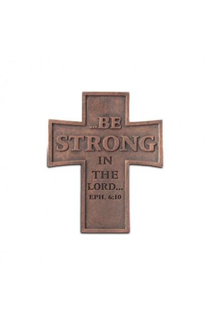 BE STRONG RESIN CROSS MAGNET