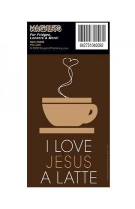 I LOVE JESUS A LATTE MAGNET