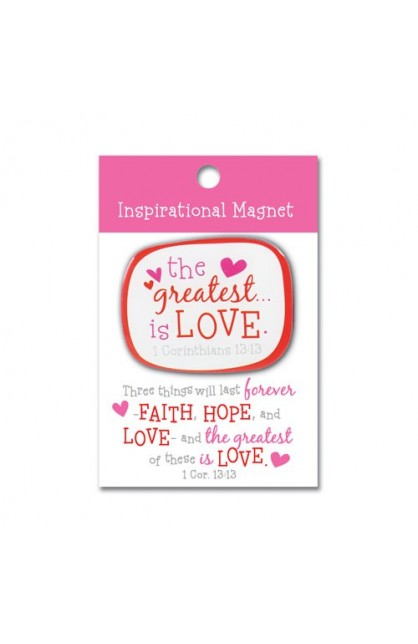 THE GREATEST IS LOVE COLORFUL MAGNET