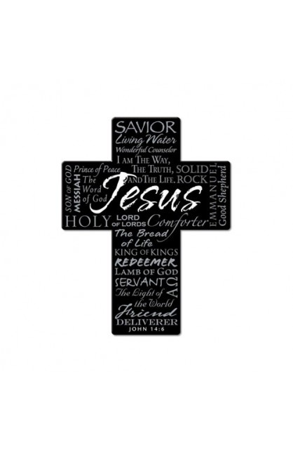 JESUS METAL CROSS MAGNET