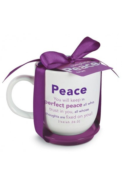 PEACE MUG WITH COASTER