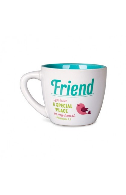 FRIEND HAPPY CERAMIC MUG