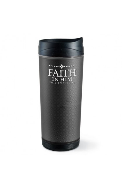 FAITH IN HIM FROSTED TALL TUMBLER