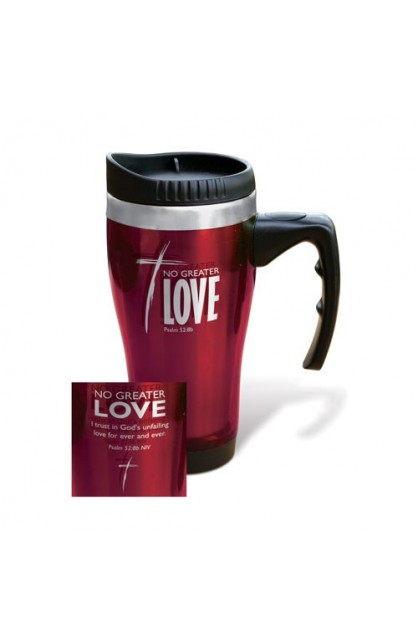 NO GREATER LOVE STAINLESS STEEL TRAVEL MUG