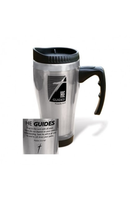 HE GUIDES STAINLESS STEEL TRAVEL MUG
