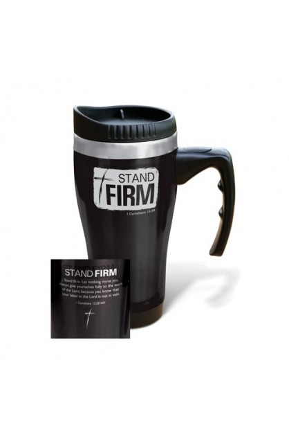 STAND FIRM STAINLESS STEEL TRAVEL MUG