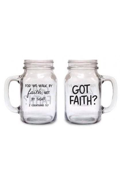 GOT FAITH OLD FASHIONED DRINKING JAR