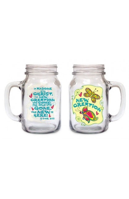 NEW CREATION OLD FASHIONED DRINKING JAR