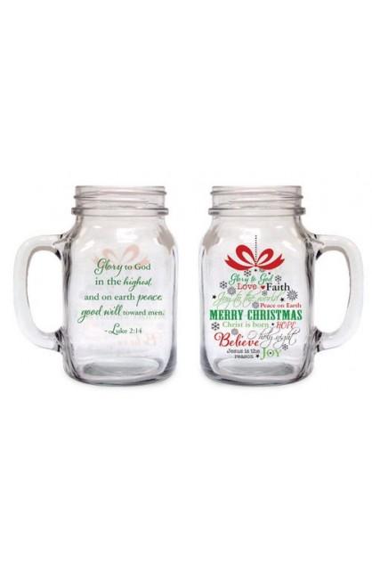 CHRISTMAS ORNAMENT OLD FASHIONED DRINIKING JAR