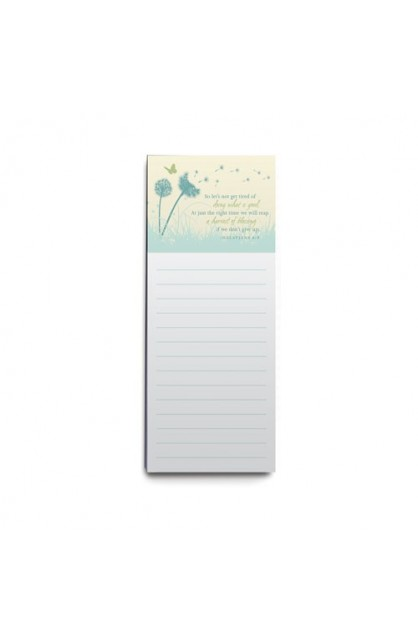 DOING WHAT IS GOOD DANDELION MAGNET NOTE PAD