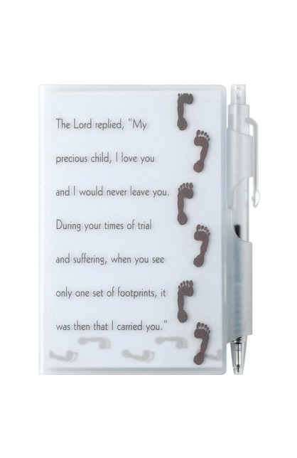 FOOTPRINTS MEMO PAD WITH PEN