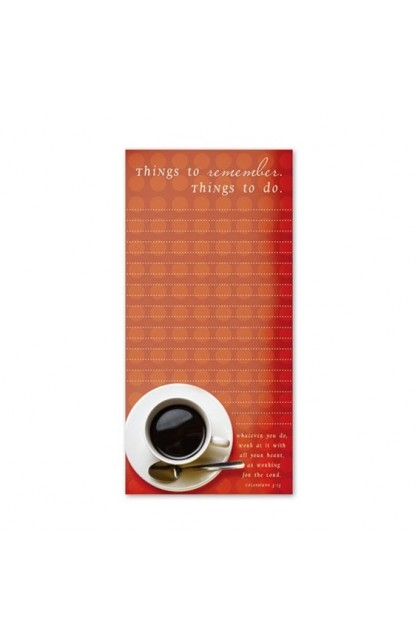 COFFEE MAGNETIC MEMO PAD