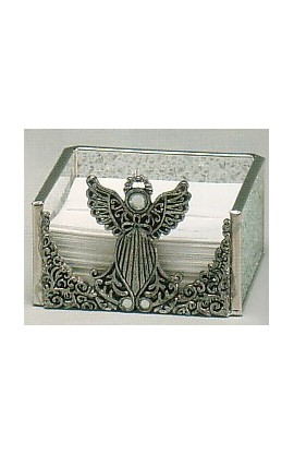GLASS ANGEL NOTE HOLDER