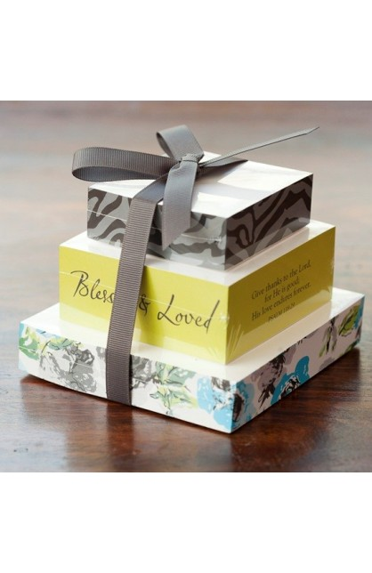 BLESSED & LOVED TIERED MEMO PAD