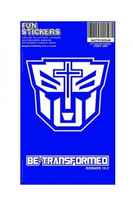 BE TRANSFORMED FUN STICKER