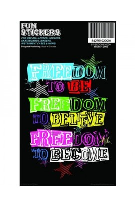 FREEDOM FUN STICKER