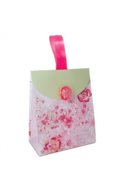 PINK FLOWER MEDIUM GIFT BAG