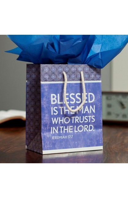 BLEESED IS THE MAN MEDIUM GIFT BAG WITH TISSUE