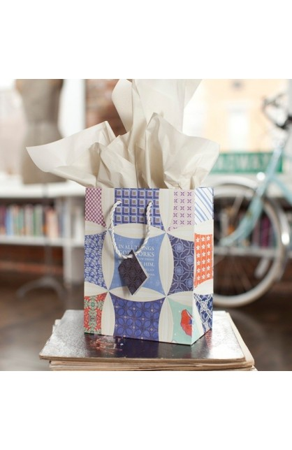 IN ALL THINGS MEDIUM GIFT BAG WITH TISSUE