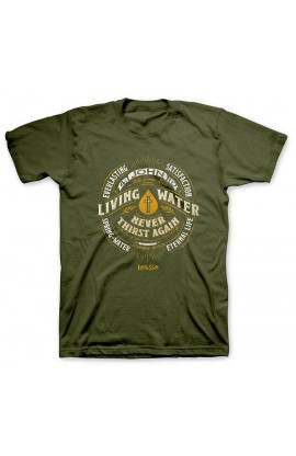 LIVING WATER LABEL ADULT T SHIRT