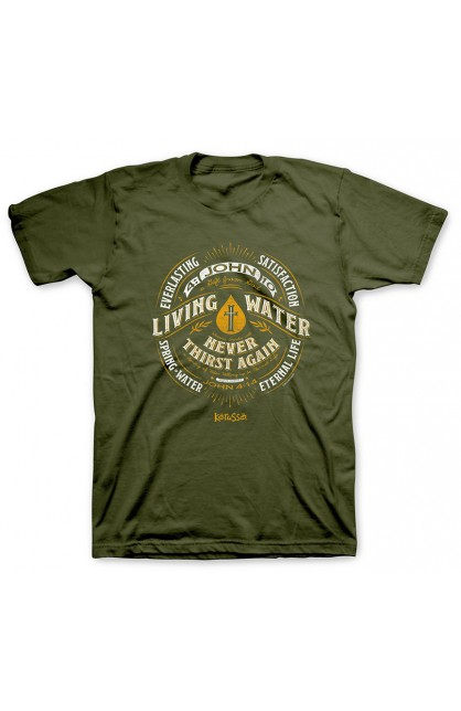 LIVING WATER LABEL ADULT T-SHIRT