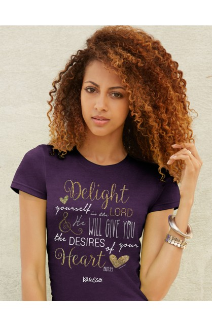 DELIGHT IN THE LORD MISSY T-SHIRT